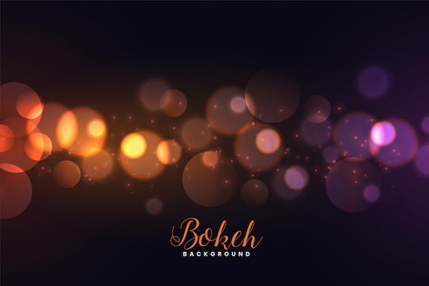 Bokeh sfocato impressionante illumina la priorità bassa