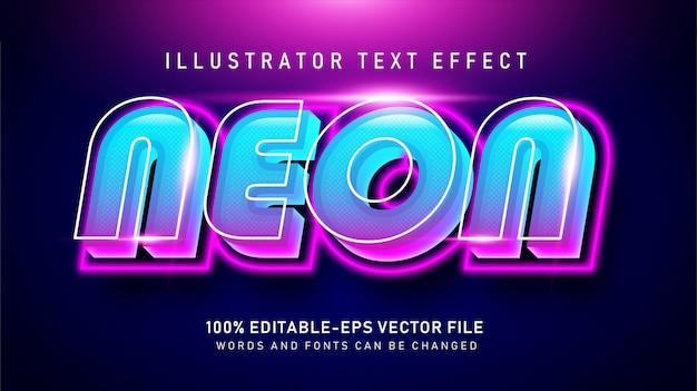 Bold neon effetto stile testo