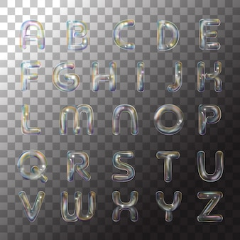 Bolla di alfabeto del sapone dell'illustrazione su fondo trasparente