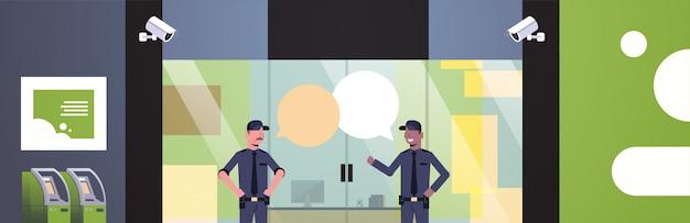 Bolla di chat degli uomini della guardia di sicurezza