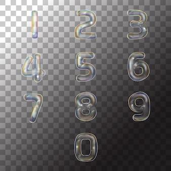 Bolla di numero di sapone dell'illustrazione su trasparente
