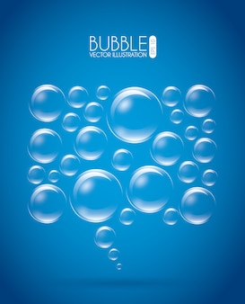 Bolle design su sfondo blu illustrazione vettoriale