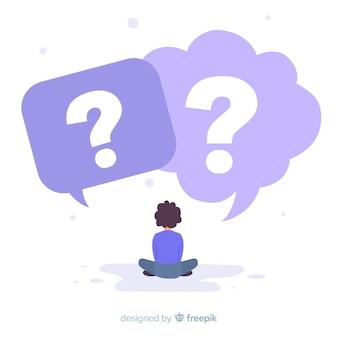 Bolle di discorso con punti interrogativi