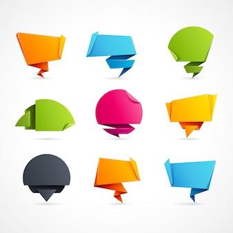 Bolle di discorso di origami
