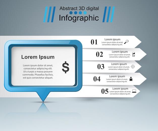 Bolle di discorso infografica