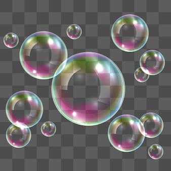 Bolle di sapone trasparente