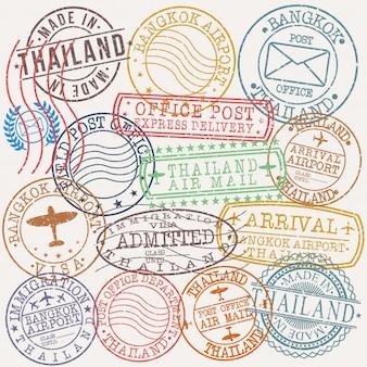 Bollo postale di qualità del passaporto di bangkok tailandia