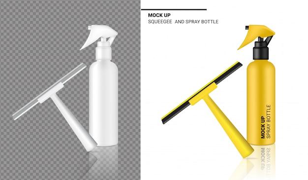 Bomboletta spray oggetto di pulizia del tergipavimento realistico.