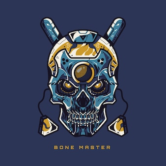 Bone master skull illustration