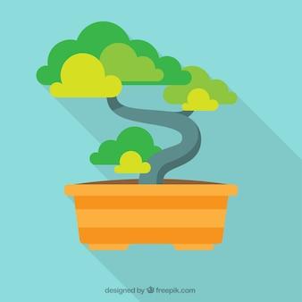 Bonsai albero illustrazione