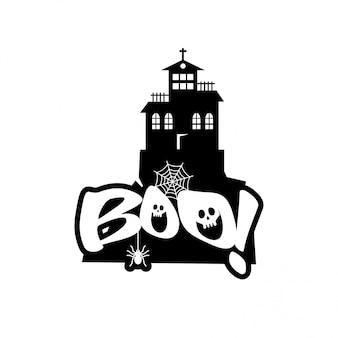 Boo tipografia vettoriale