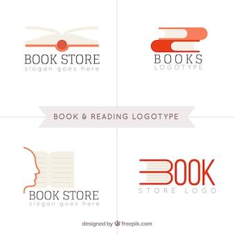 Book store logo set