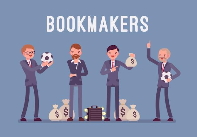 Bookmaker uomini con soldi