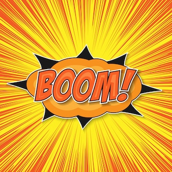 Boom della bomba della pop art