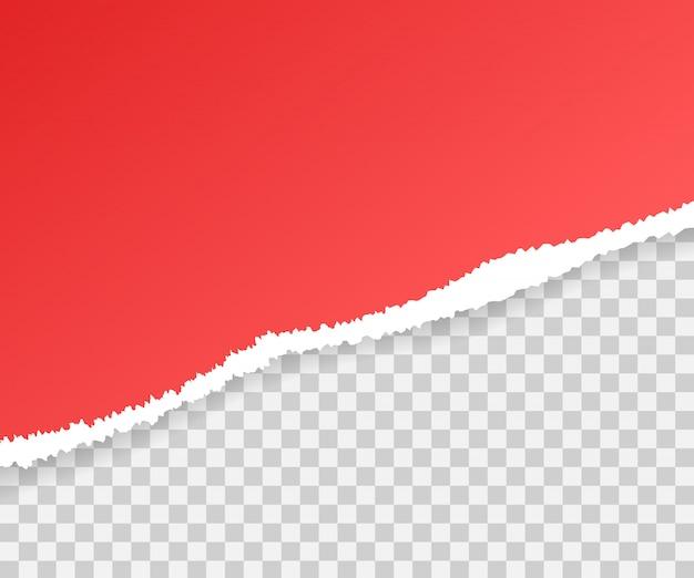 Bordi di carta strappati, senza soluzione di continuità in senso orizzontale.