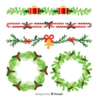 Bordi e ghirlande natalizi