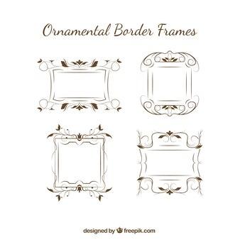 Bordi ornamentali eleganti