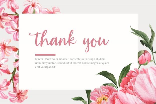 Bordo botanico dell'acquerello del fiore della struttura che fiorisce, illustrazione della stampa