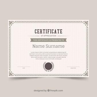 Bordo certificato ornamentale