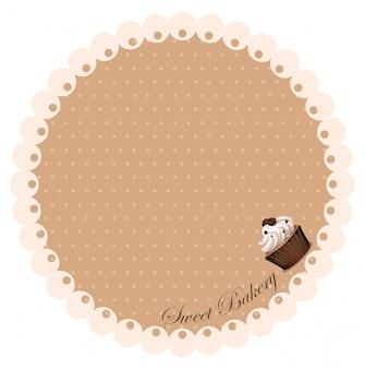 Bordo con cupcake di caffè
