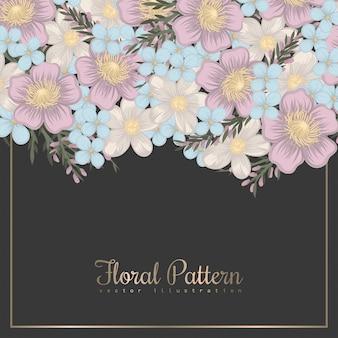 Bordo di disegni floreali - fiori di primavera