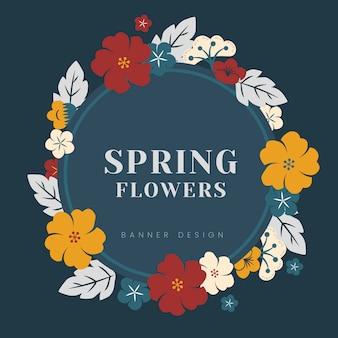 Bordo di fiori colorati