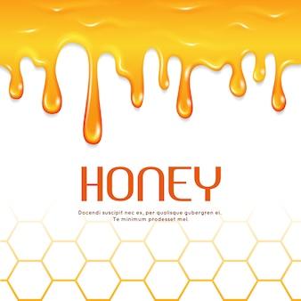 Bordo di miele gocciolante