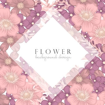 Bordo fiore rosa e viola