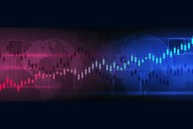 Borsa e borsa. grafico dei dati finanziari. concetto economico di analisi dei grafici. rapporti di concetto di affari ed illustrazione di investimento.