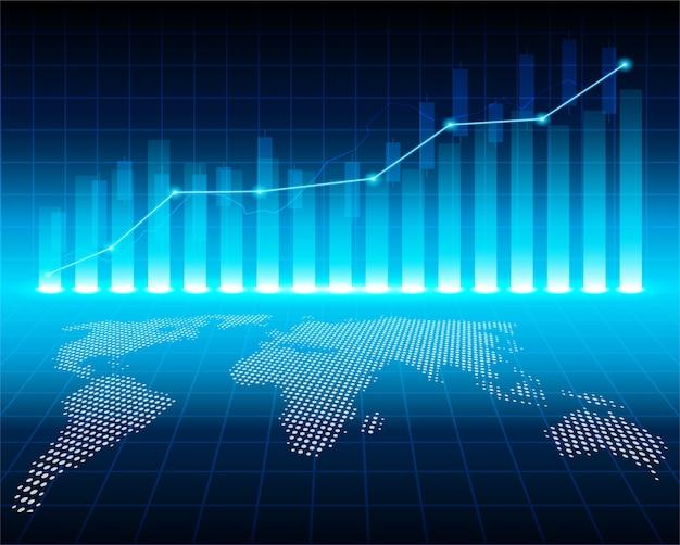 Borsa e scambio di mondo.