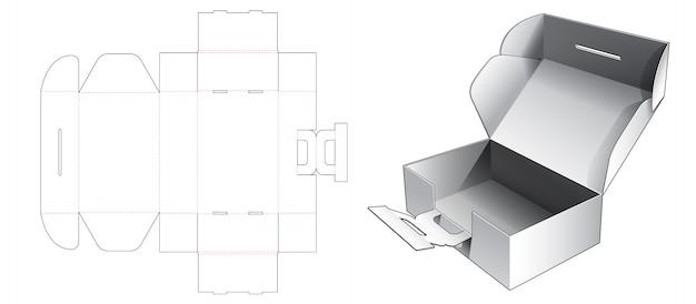 Borsa ondulata con design modello sagomato supporto