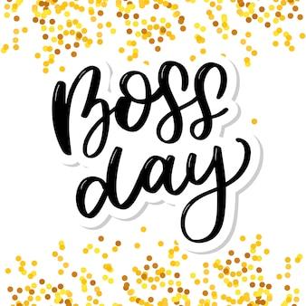 Boss day vintage lettering sfondo