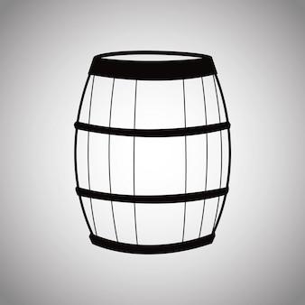 Botte di vino in legno