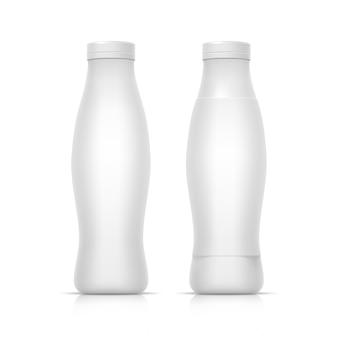 Bottiglia bianca vuota del contenitore d'imballaggio per yogurt