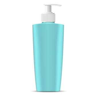 Bottiglia cosmetica con coperchio dell'erogatore della pompa