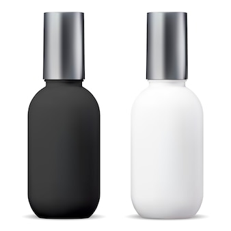 Bottiglia cosmetica. pacchetto 3d per il trattamento del siero. vaso