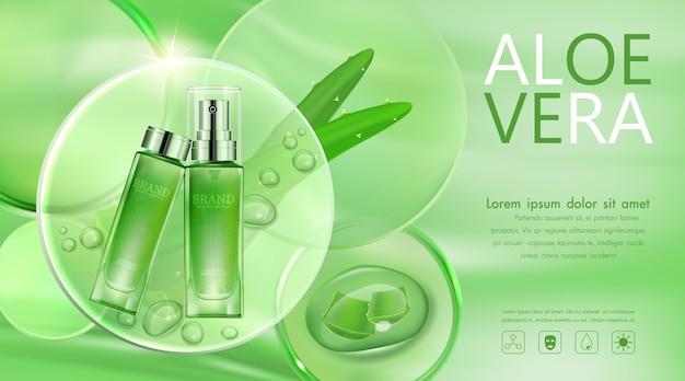 Bottiglia cosmetica trasparente