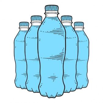 Bottiglia d'acqua.