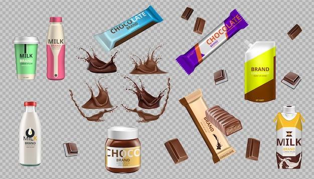 Bottiglia di cioccolato e latte