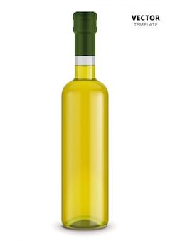 Bottiglia di olio d'oliva isolata