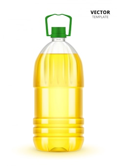 Bottiglia di olio vegetale isolata