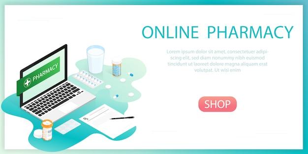 Bottiglia di pillole di medicina, farmacia online