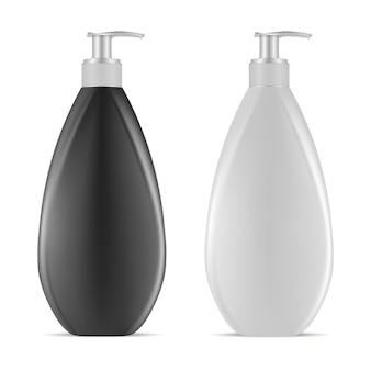 Bottiglia di plastica vuota dell'erogatore. contenitore crema lozione