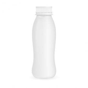 Bottiglia di plastica yogurt illustrazione isolata