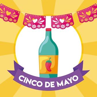 Bottiglia di tequila, bevanda tradizionale messicana