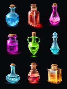 Bottiglie con set di pozioni