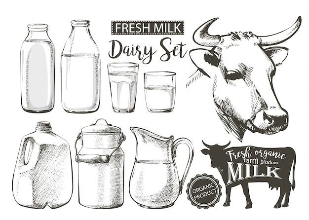 Bottiglie di latte in barattolo
