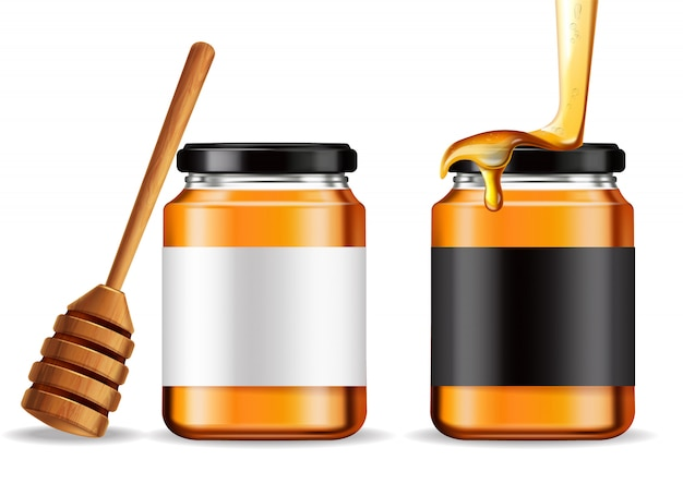 Bottiglie di miele