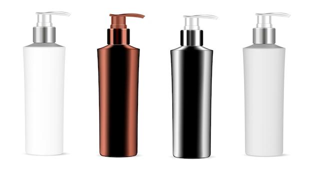 Bottiglie di plastica con pompa dosatrice