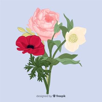 Bouquet di fiori botanici vintage